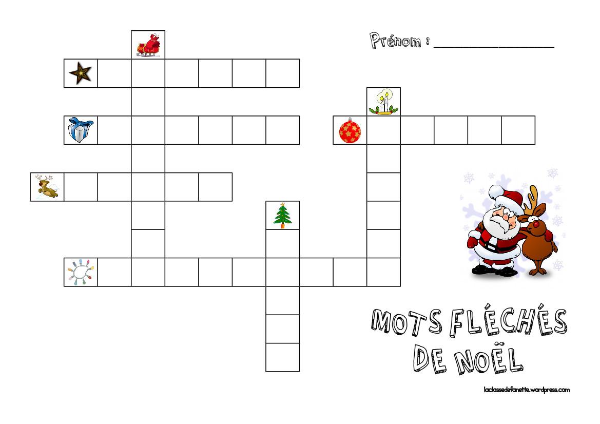 Berühmt Mots fléchés de Noël | La classe de Fanette IK01